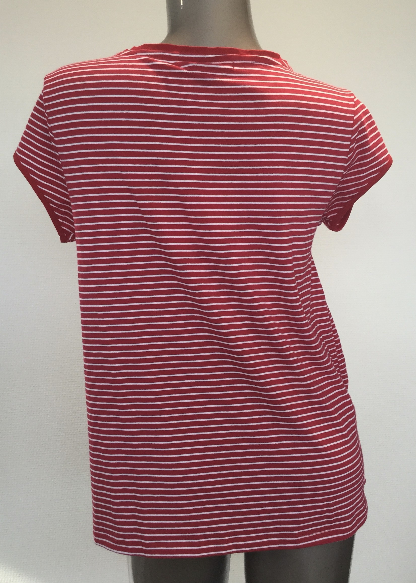 OHMA STRIPED NURSING TEE CROSSED ON FRONT 52950662/RED-WHITE