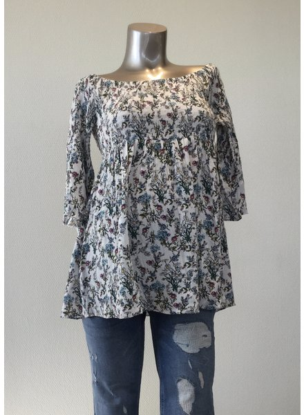 RIPE WILLOW COLD SHOULDER TOP S6201 MULTI