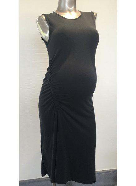 RIPE Loretta Ruched Dress -W1124-Black