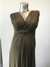 PIETRO BRUNELLI MILKY DRESS PAPAVER OLIVE