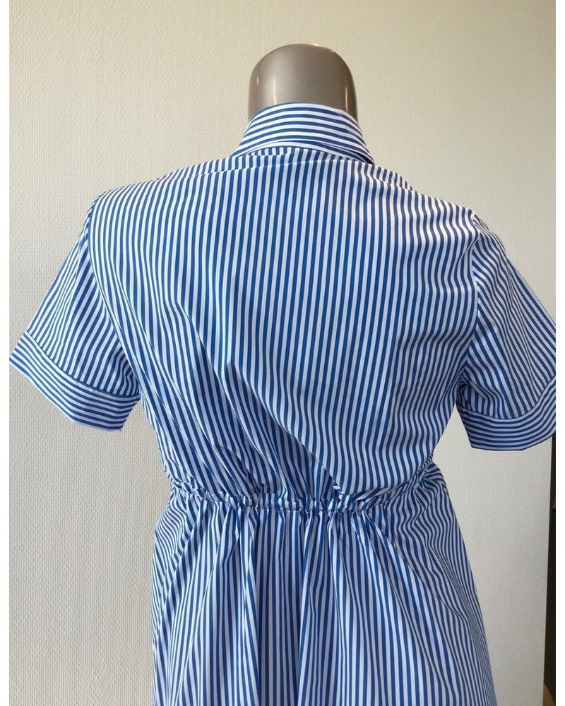 PIETRO BRUNELLI DRESS ORTENSIA BLUE STRIPES