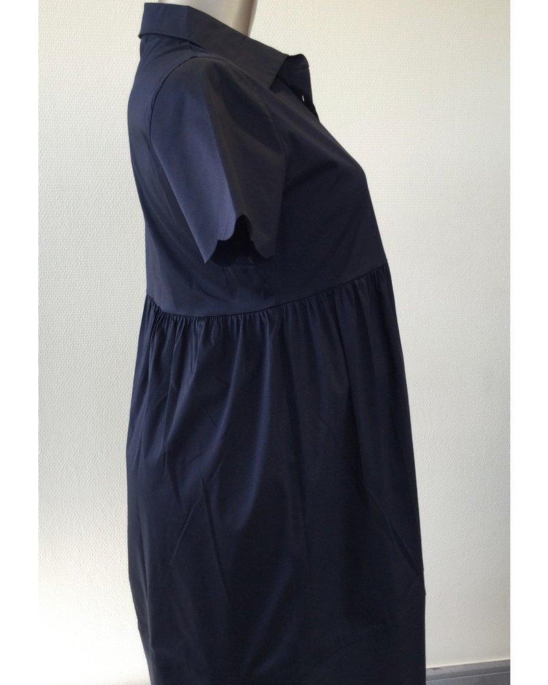 PIETRO BRUNELLI DRESS BERNADETTE DARK BLUE