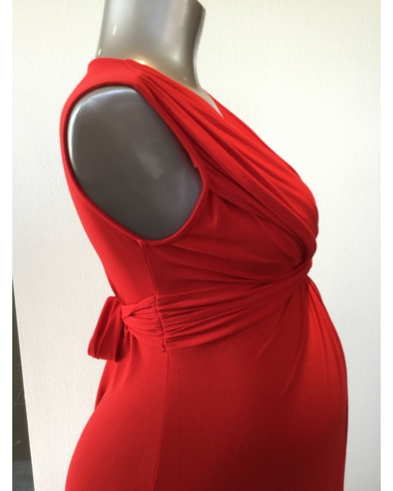 PIETRO BRUNELLI MILKY DRESS PAPAVER LIPSTICK RED