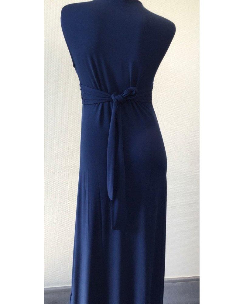 PIETRO BRUNELLI MILKY DRESS PAPAVER MOONLIGHT BLUE