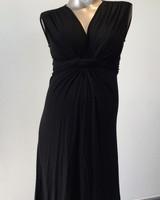 PIETRO BRUNELLI MILKY DRESS PAPAVER SHORT VERSION BLACK