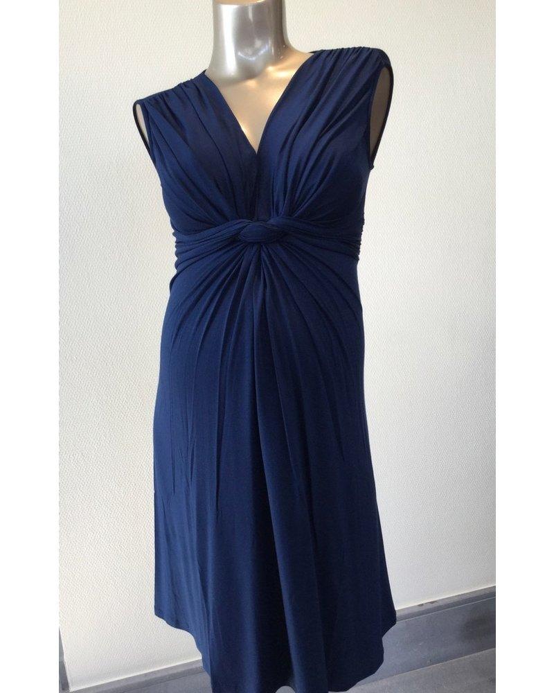 PIETRO BRUNELLI MILKY DRESS PAPAVER SHORT VERSION MOONLIGHT BLUE