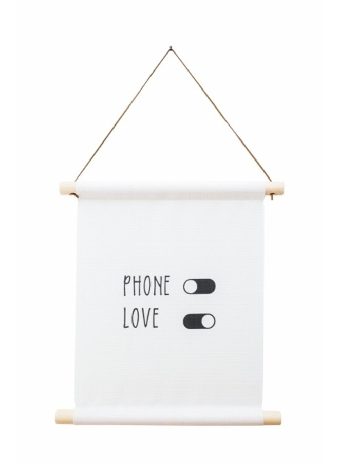 Textile poster Phone off  | Love on