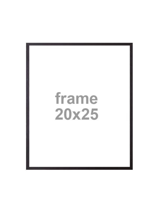 Houten Wissellijst zwart, 20x25cm