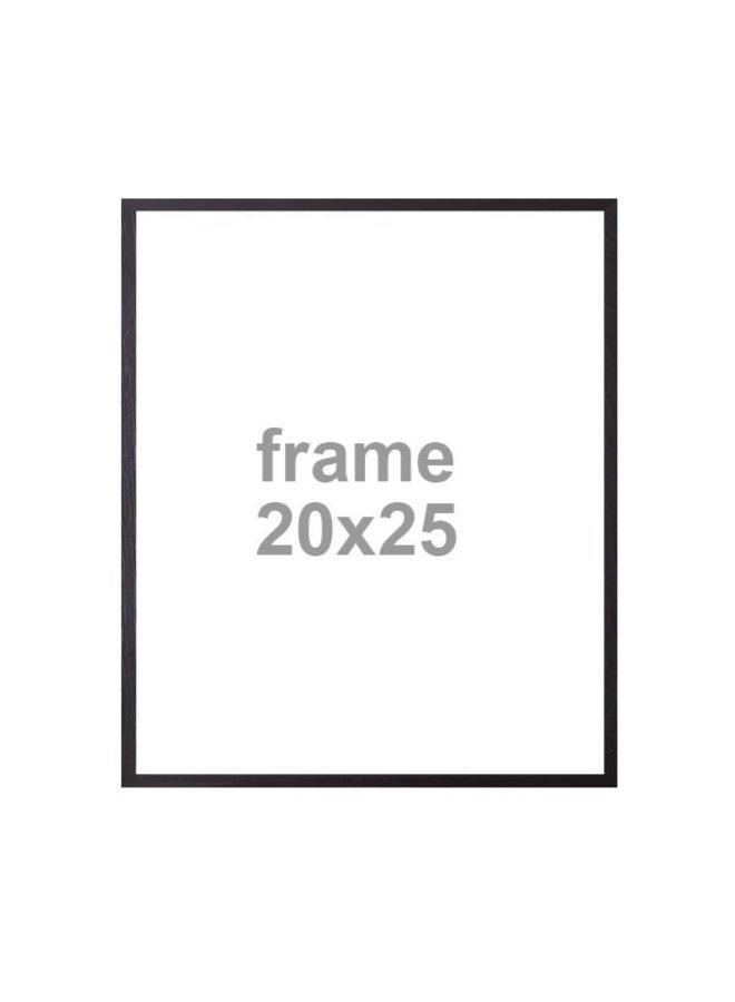 Wissellijst, hout, zwart | 20x25cm