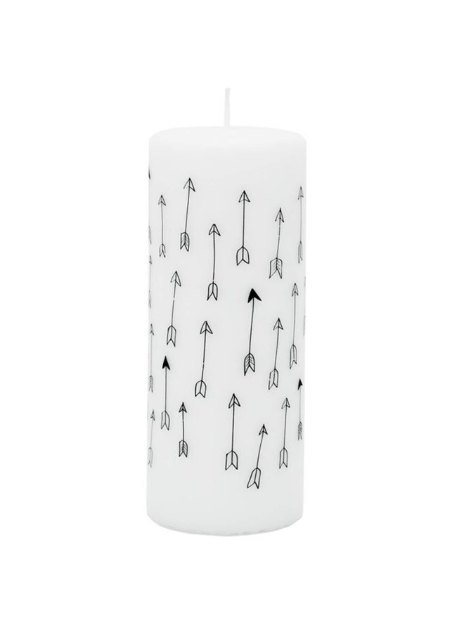Rustik Lys Candle Arrows,  ø6xh15cm