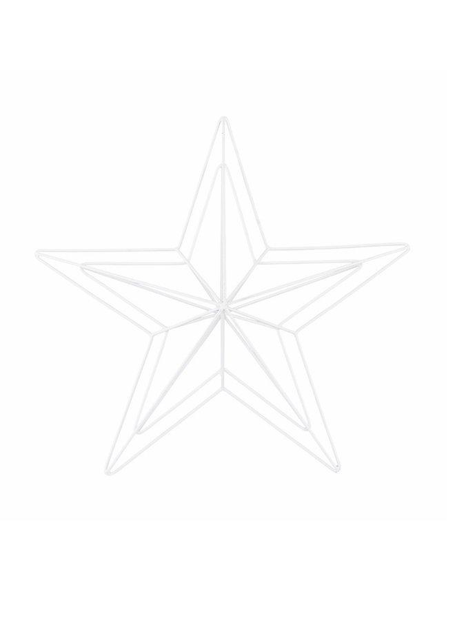 Metalen Ster wit , 40 cm