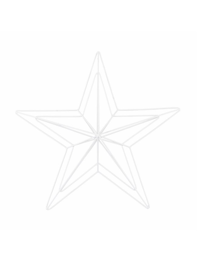 Metal Star wire, white