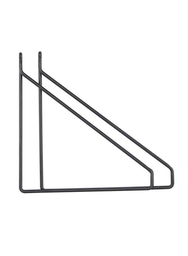 Plankdrager Apart, zwart metaal, per stuk
