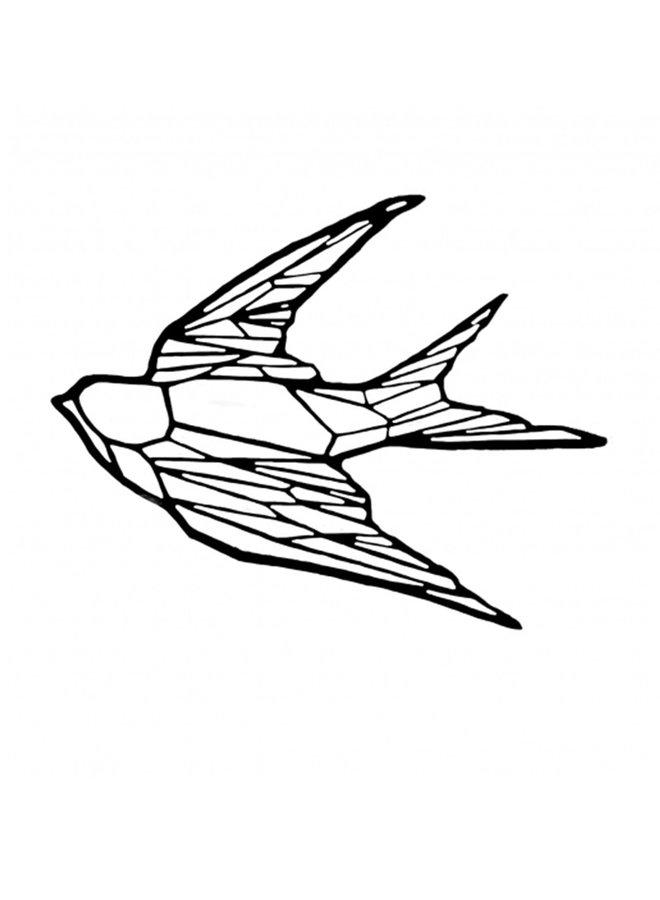 Houten wanddecoratie Zwaluw