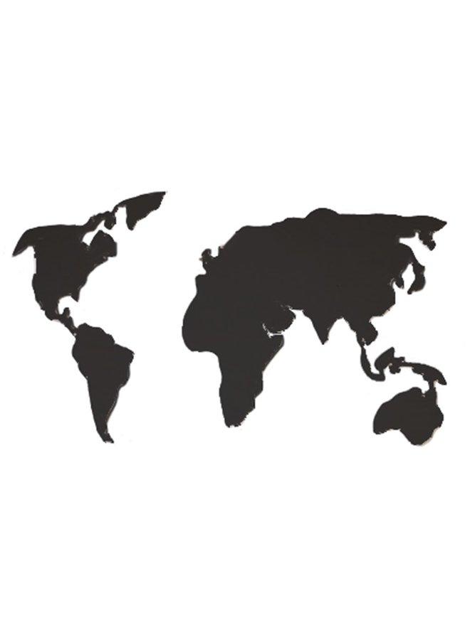 Houten wanddecoratie Wereldkaart