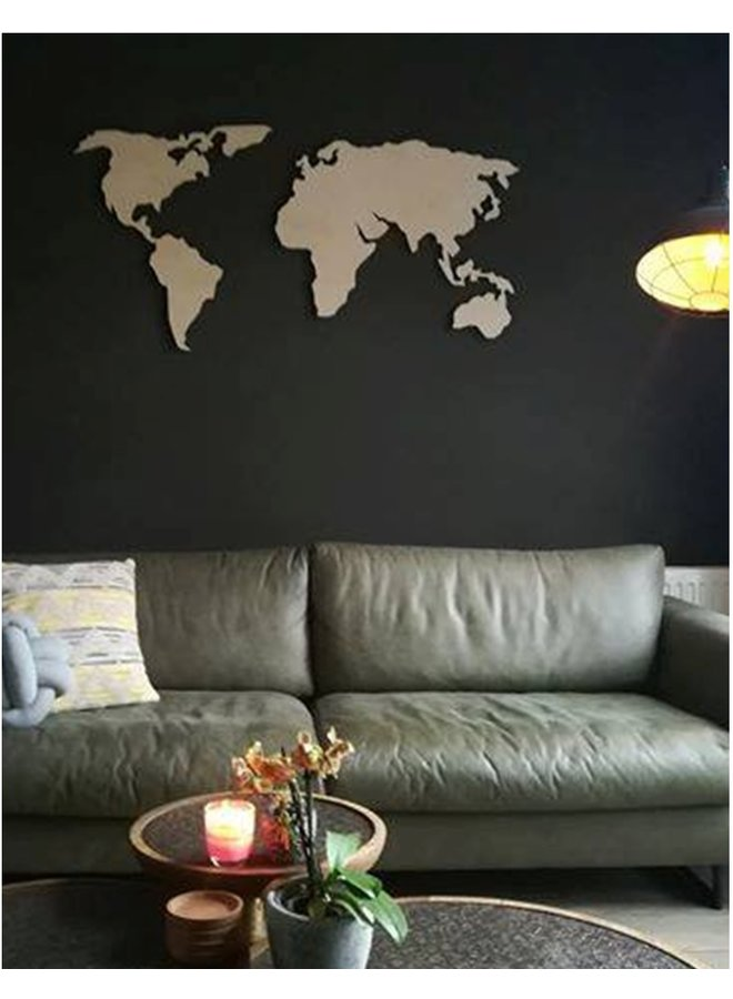 Wooden wall decoration World Map