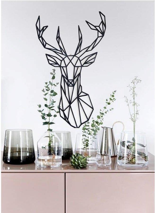 Houten wanddecoratie Hert