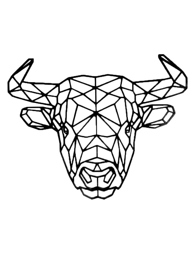 Wooden wall decoration Bull