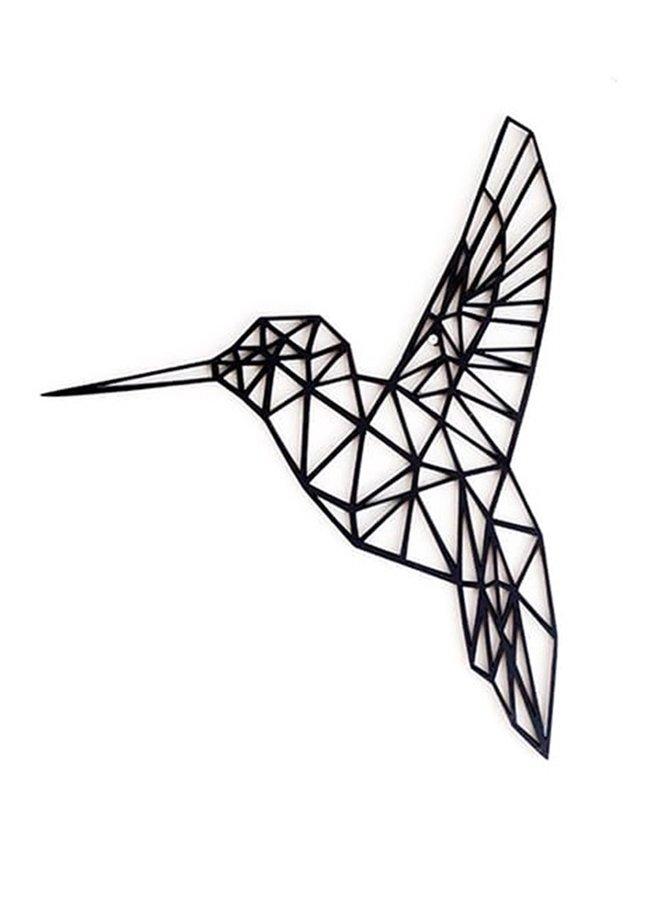 Houten wanddecoratie Kolibri