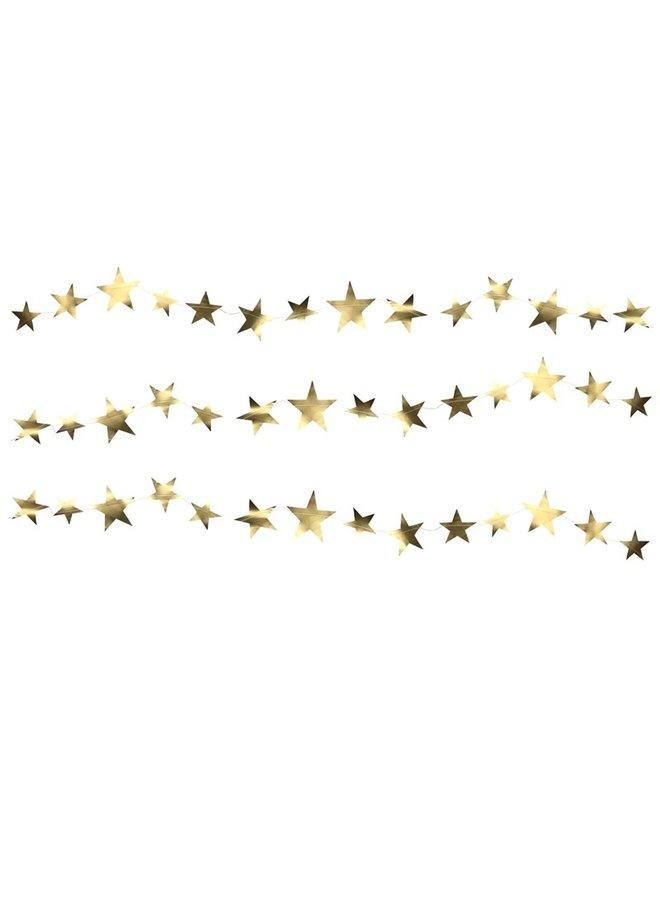 Star garland gold