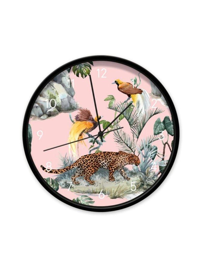 Clock Leopard & Birds