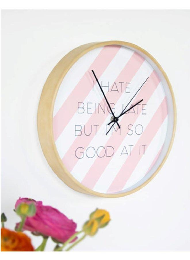 """Klok """"hate being late"""""""