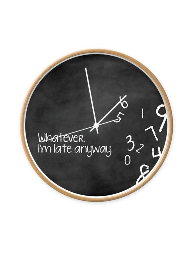 Klok 'Whatever I'm late anyway'