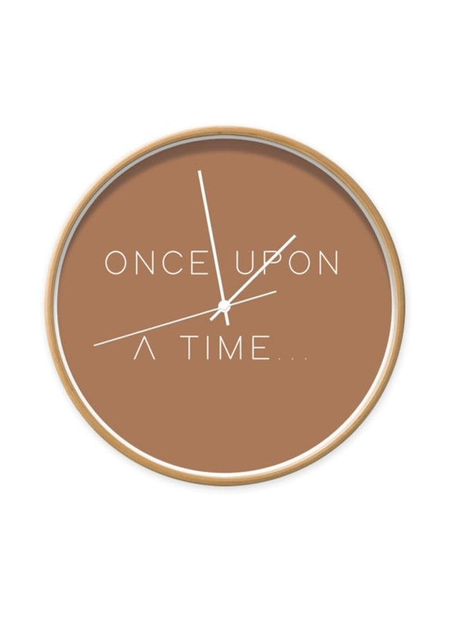 Wandklok met quote 'Once upon a time'