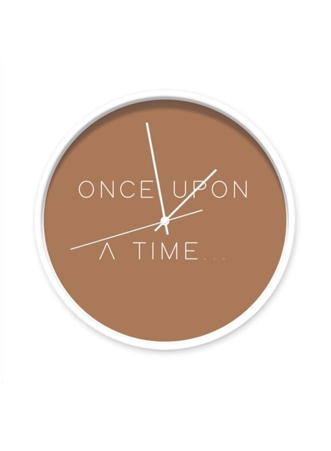 Clock with quote 'Once upon a time'