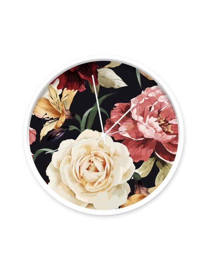 Clock Roses black