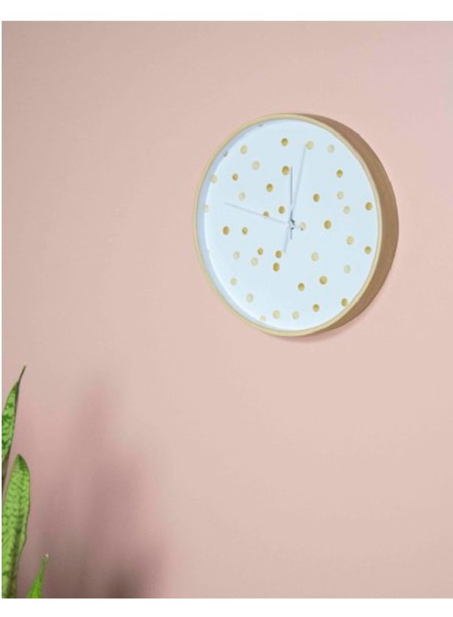 Clock golden dots