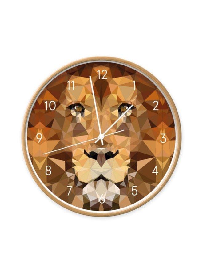 Clock Lion geometric