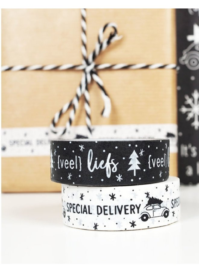 Masking Tape kerst 'special delivery'