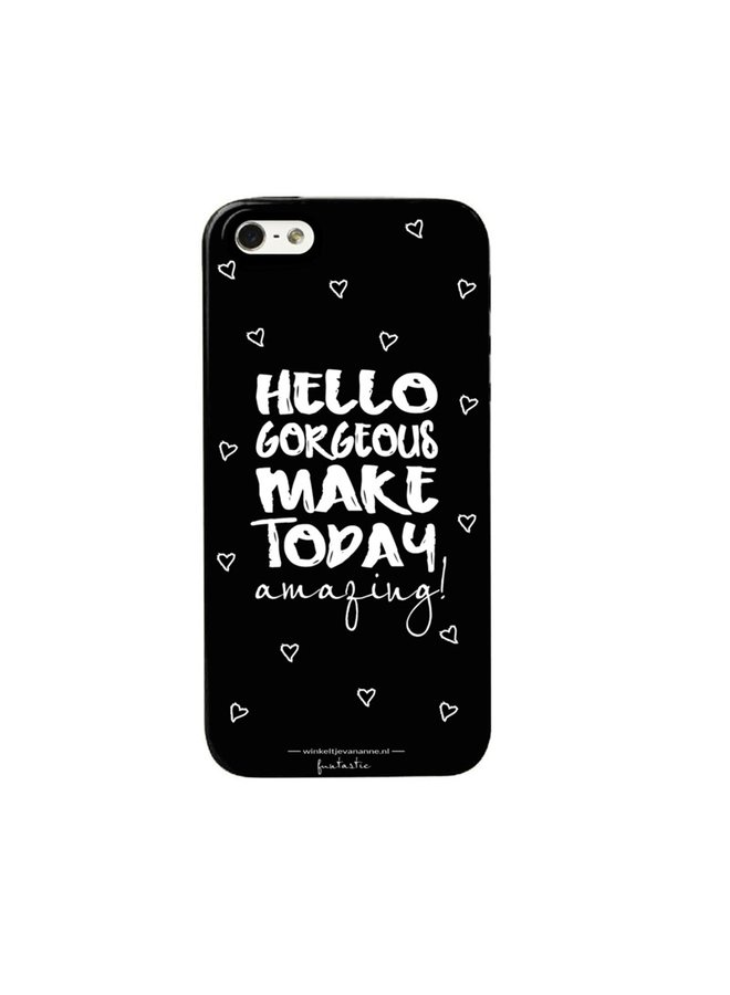 """Phone cover """"Hello gorgeous"""" for Samsung S7 Edge"""