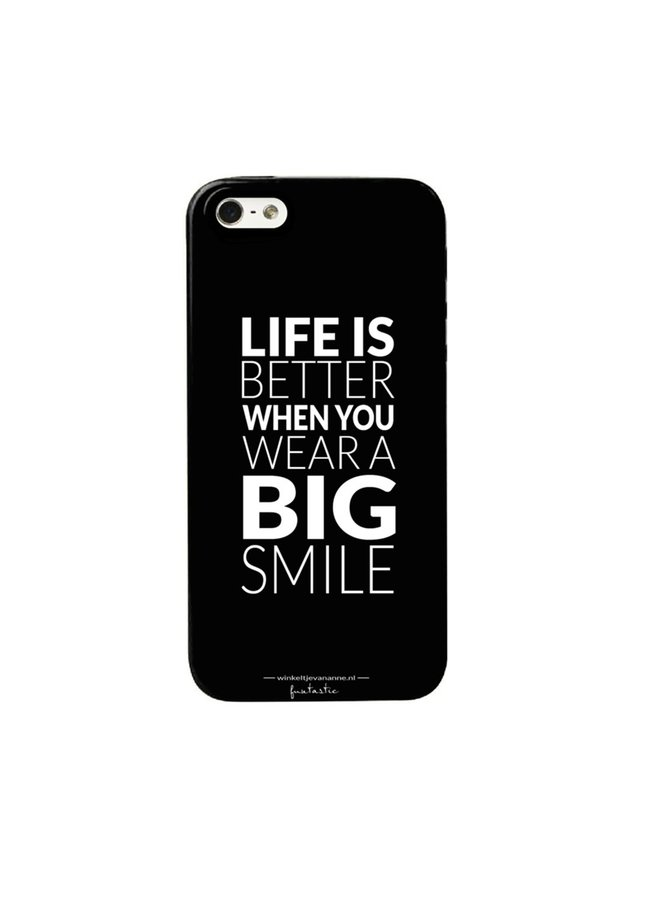 "Telefoonhoesje ""Life is better"" iPhone 7(S)"