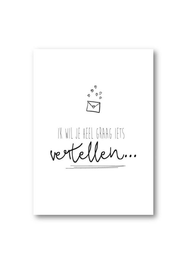 Postcard 'Ik wil je heel graag...'