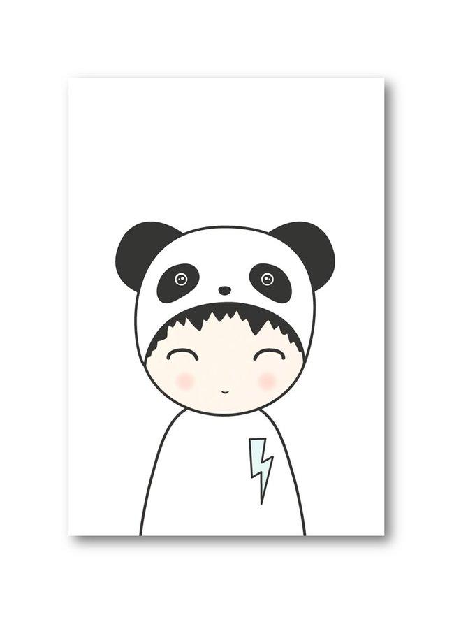 Poster Jongen Panda  | A3
