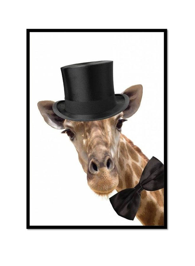 Poster  Giraffe with hat | A3