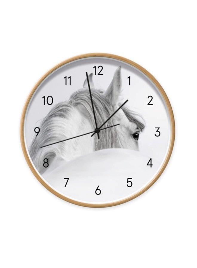 Clock White Horse