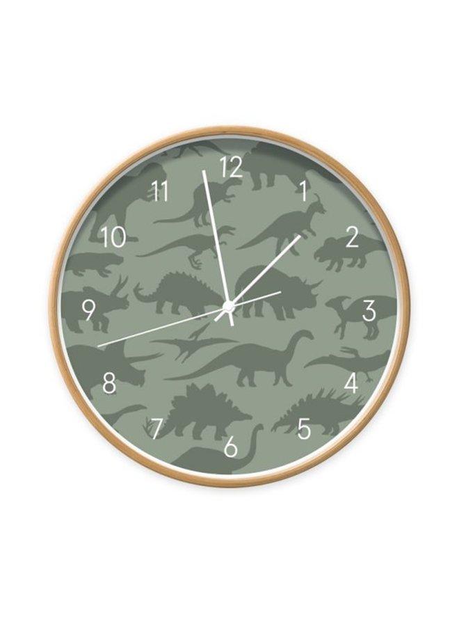 Clock Dino dark green