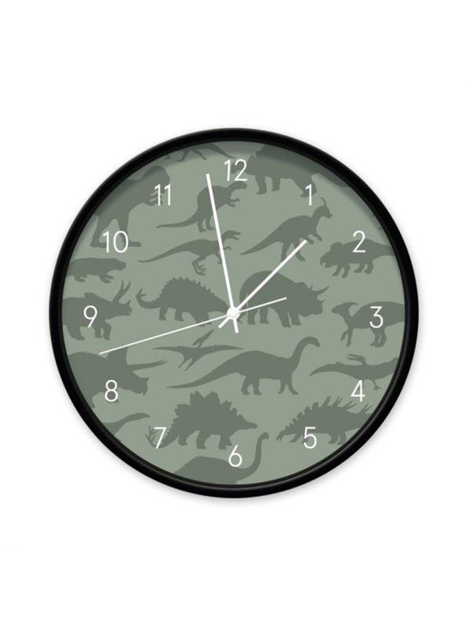 Klok Dino donker groen