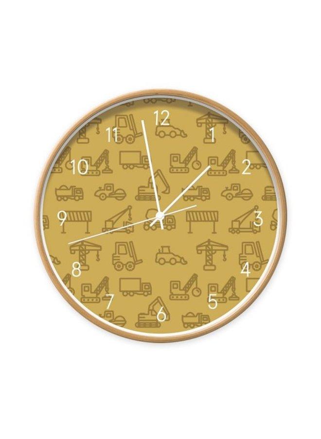 Clock Vehicles ocher yellow
