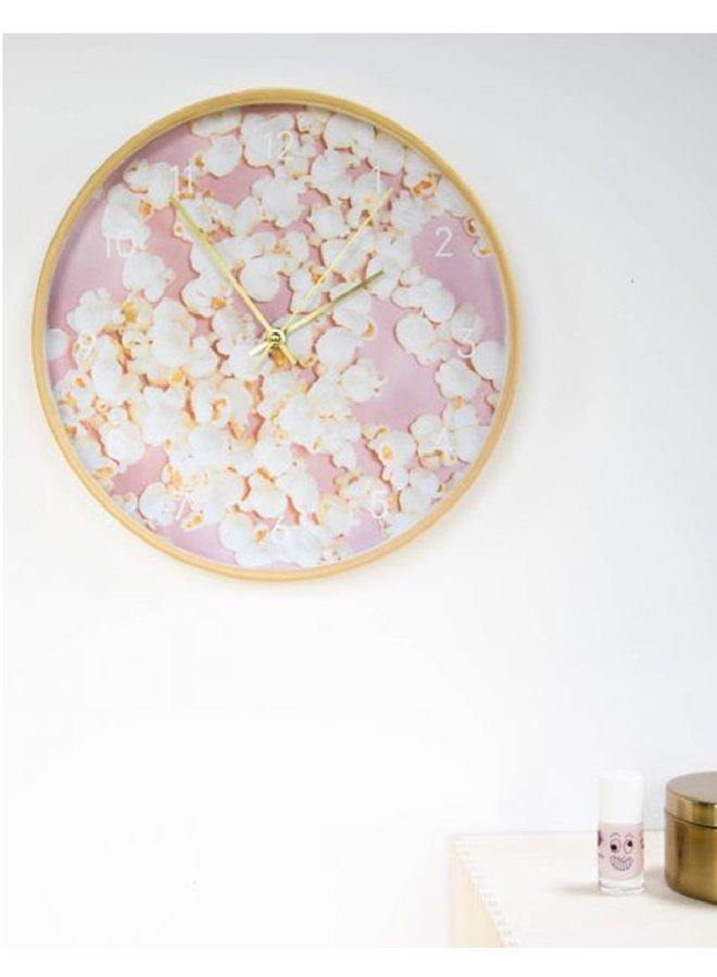 Popcorn klok roze