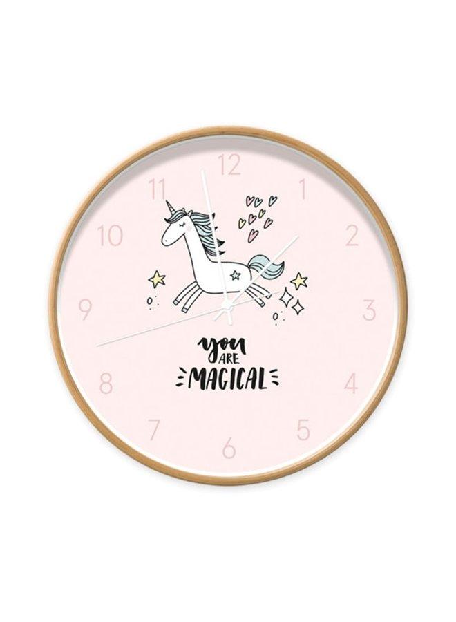Children's clock Unicorn 'you are magical'