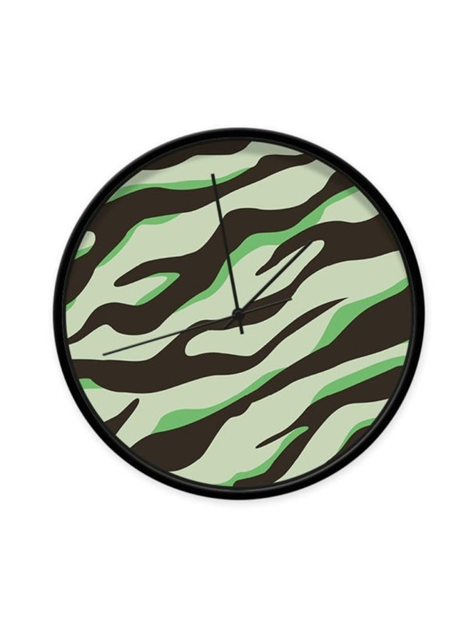 Cool children's clock with green camouflage