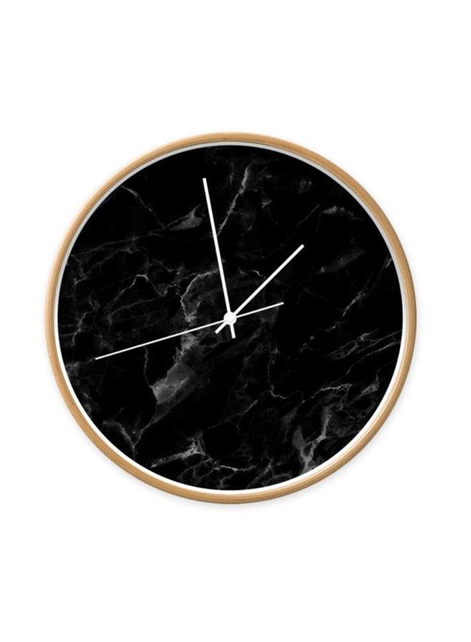 Clock marble black