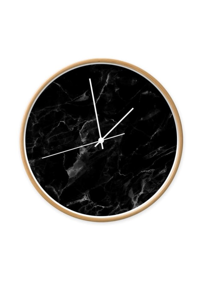 Klok marmer zwart