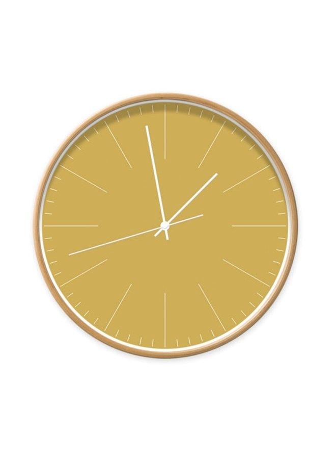 Clock ocher with stripes
