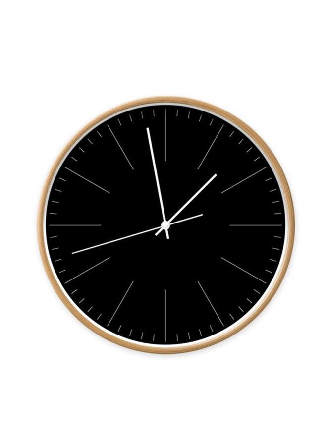 Clock black with stripes