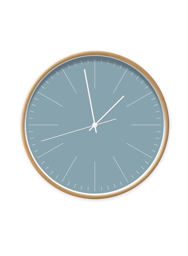Clock blue with stripes